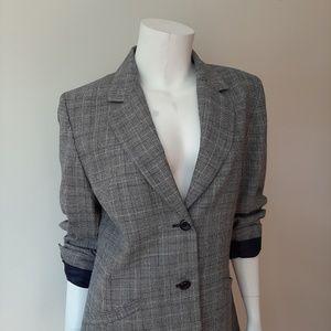Pendleton Jackets & Coats - Pendleton Wool Gray & Navy Blue Plaid Suit Blazer